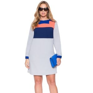 Eloquii Colorblock Tunic Dress - NWT